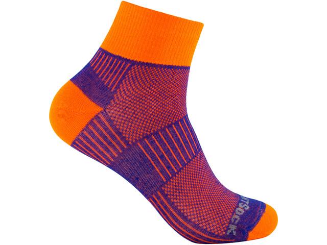 Wrightsock Coolmesh II Quarter Socks royal-orange